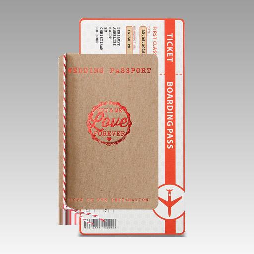 huwelijksuitnodigingen paspoort