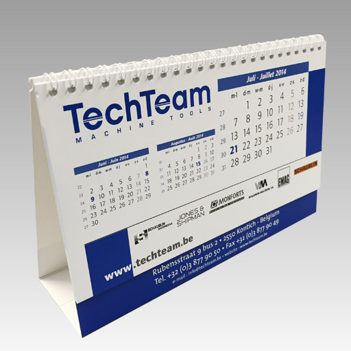 commercieel drukwerk kalender